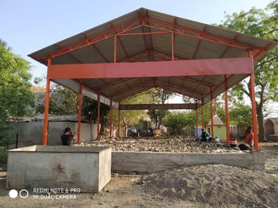 109 construction of sheds bal bharti academy