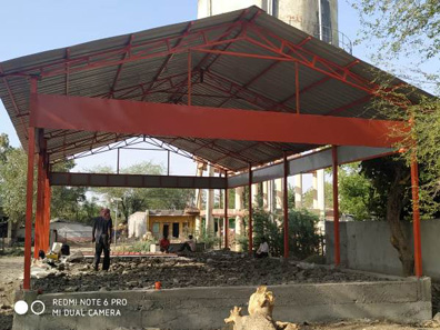 108 construction of sheds bal bharti academy