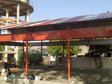 107 construction of sheds bal bharti academy