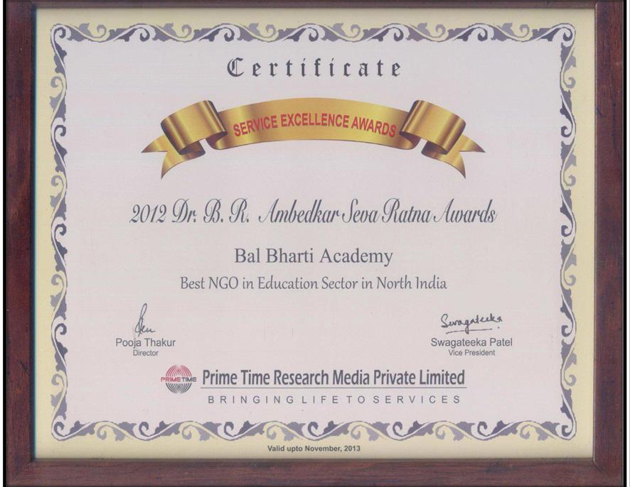 112 articles & awards bal bharti academy