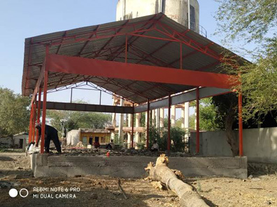 105 construction of sheds bal bharti academy