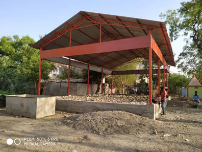 104 construction of sheds bal bharti academy