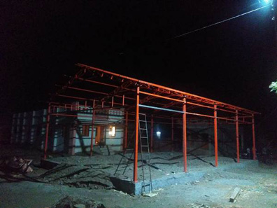 101 construction of sheds bal bharti academy